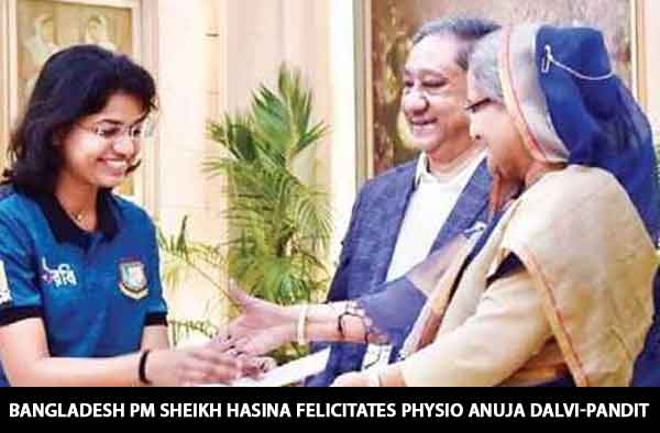 Bangladesh PM Sheikh Hasina felicitates physio Anuja Dalvi-Pandit after the neighbouring country's remarkable triumph in Women's Asia Cu