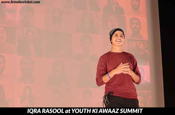 Iqra Rasool at Youth Ki Awaaz Summit