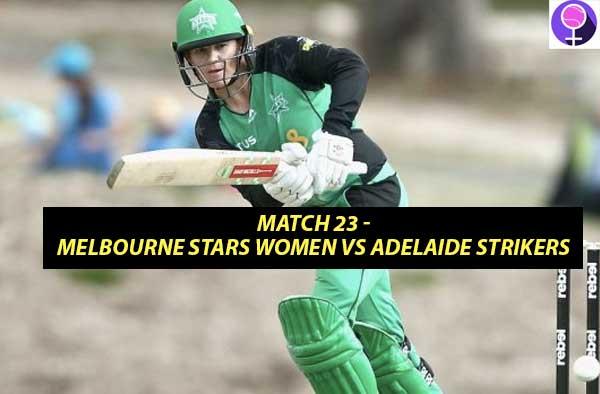 Match 23 – Melbourne Stars Women vs Adelaide Strikers Women at Karen Rolton Oval, Adelaide, South Australia
