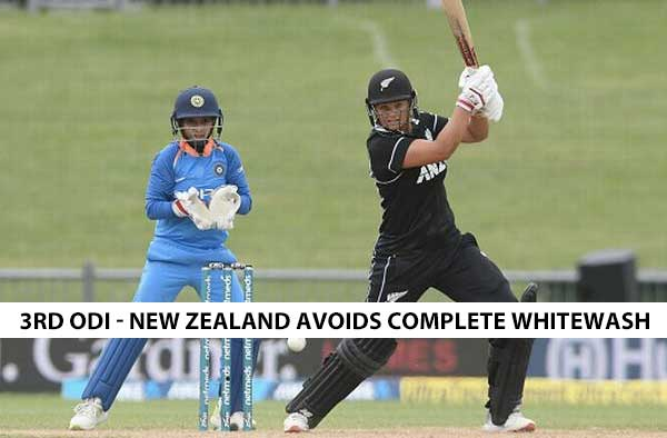 3rd ODI - Suzie Bates and Amy Satterthwaite's fifties hand New Zealand eves consolation win