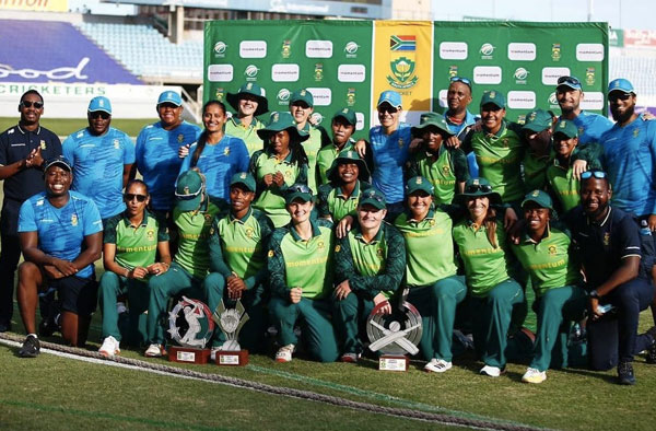 South Africa Wins ODI Series 3-0 over Pakistan. PC: Cricket South Africa / Twitter