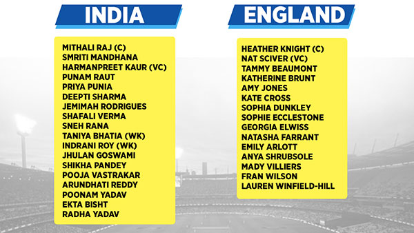 India and England Women's Squad